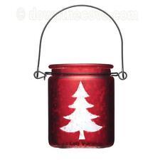 Kitchen Craft Winter Woodland Glass Tea Light Holder Christmas Tealight