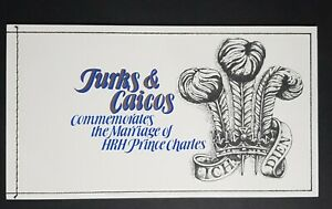 Turks and Caicos: Marriage of Prince Charles; complete mint (MNH) booklet