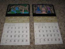 "Vintage 1977 Diecut Calendar ~ 11.5"" x 6"" (Lot of 2) Gillette, Wyoming"