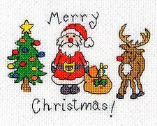 BOTHY FILETS CARTES DE NOËL MERRY CHRISTMAS KIT POUR POINT DE CROIX