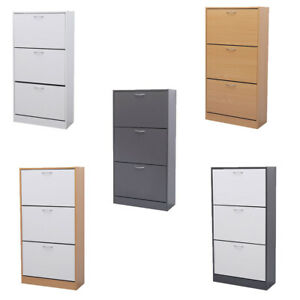 3 Drawer Shoe Storage Cabinet Cupboard Rack Shelf Footwear Organiser Shoes Stand