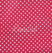 STOFFA 150 x 100 CM PER CUCITO creativo patchwork SCRAPBOOKING rosso a pois