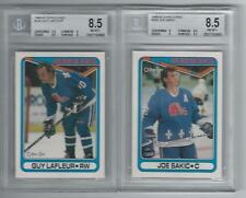 2 Diff. 1990 O-Pee-Chee (hof) Guy Lafleur & Joe Sakic Graded BGS 8.5 Nordiques