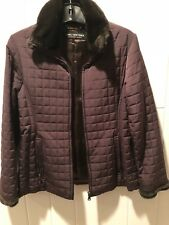 Marc New York Women's Brown Jacket With Fur Collar Size Xs