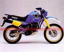 YAMAHA XTZ 600 Ténéré ( XT Z XT-Z ) 1983 Fiche Moto 000108