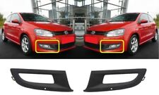 NEW VW POLO 6R FRONT BUMPER LOWER FOG GRILL COVERS TRIM RIGHT + LEFT 2009 - 2016