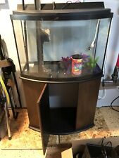 36 Gallon Bowfront Aquarium w/ Stand, Hood and accessories