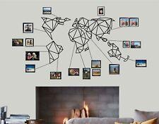 Large Geometric Metal World Map Wall Art Decor Home Living Room Decoration 5138