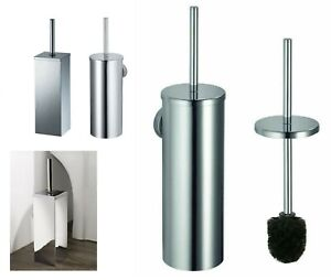 WC-Bürstengarnitur Toilettenbürstenhalter  Metall verchromt Halterung Rostfrei