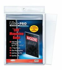 Lot of 100 Ultra Pro Life Magazine Size Poly Bags