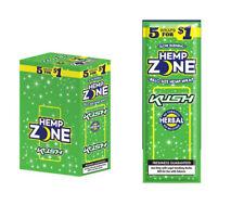 Hemp Zone Kush Wraps 15 Pouches in a Box (75 Wraps Total)