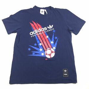 Adidas FIFA Classics World Cup USA Tshirt Womens Medium Blue