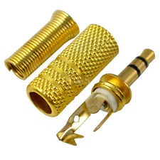 3.5mm Converter Male Plug Stereo Audio Cable Metal Terminal Adapters Gold Plated
