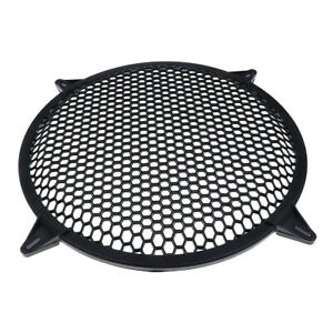 """12 IN PAIR SUBWOOFER SPEAKER COVERS  MESH GRILL PROTECT GUARD CLIP 12"""""""