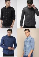 Levis Mens Long Sleeve Slim Fit Classic Retro Barstow Western Denim Shirt S-2XL