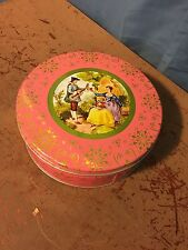 Vintage Round Tin Featuring Courtship of a Man and Woman French Provincial