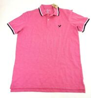 American Eagle Short Sleeve Flex Pink Polo Shirt Men's Size MT Medium Tall