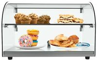 """22"""" Countertop Bakery2 Tier Display Case with Front Curved Glass and Rear Door"""