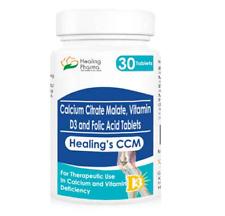 Healing Pharma CCM Tablet Calcium Citrate Malate Vitamin D Folic Acid 30tablets