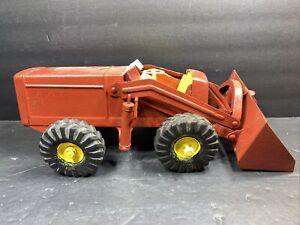 VINTAGE NYLINT PRESSED STEEL HOUGH PAYLOADER TRACTOR TOY 1950'S Red Yellow
