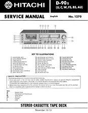 Service Manual-Anleitung für Hitachi D-90 S