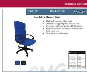 Manager office chair fabric blue Top Quality