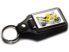 SUZUKI GSX600F Motorbike Koolart Leather and Chrome Keyring