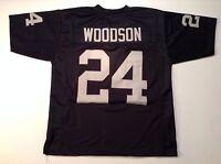 UNSIGNED CUSTOM Sewn Stitched Charles Woodson Black Jersey - M, L, XL, 2XL