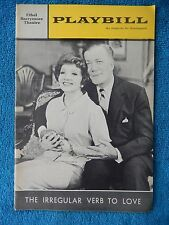 The Irregular Verb To Love - Barrymore Playbill - Opening Night Sept. 16th, 1963