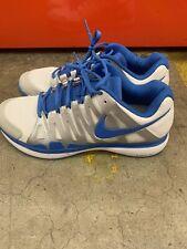 Nike Roger Federer ZOOM VAPOR 9 TOUR White/Blue Tennis Shoes 488000-140 Size 9.5