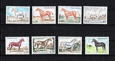 MONACO  timbre   chevaux  de sang    de 1970   num:  831/38   *