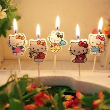 5PC Kawaii Hello Kitty Cake Candles Cupcake Toppers For Girls Birthday Party