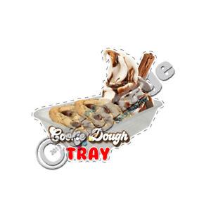 Cookie Dough tray ice cream van sticker