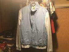 Men's Topman Large Jacket varsity bomber sky cloud blue combo London