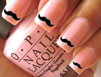 30 Moustache Nail Art Stickers Water Transfers   Free P&P   Posted Today   New