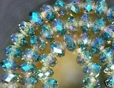 Celadon Crystal Gem Loose Beads 4x6mm100pc