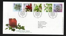 GB 2002 Christmas Stamps FDC with Bethlehem Llandeilo postmark