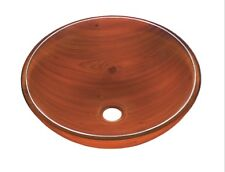 Bathroom Glass Vessel Basin Sink Vanity Bowl Wood