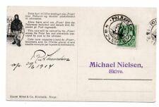 NORWAY/POLAR: Postcard to Denmark from Fram, Amundsen, Polhavet 1914, scarce(B6)