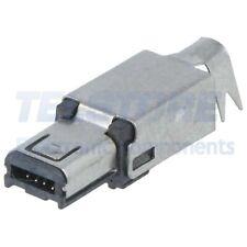N°2pcs  Spina USB mini Hirose saldatura PIN 4 nichelato 500mA PBT 25A