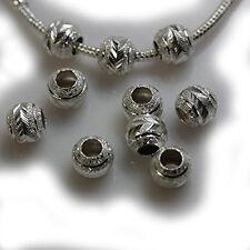 Ten (10) Star Glitter Spacer Beads for Snake Chain Charm Bracelet