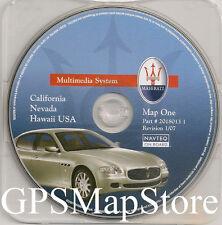 2004 to 2009 Maserati Quattroporte GPS Navigation CD Map Cover California Nevada