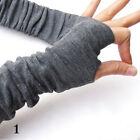 Fashion Women's Girls Winter Soft Arm Warmer Long Fingerless Gloves Mittens Hot