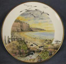 February On The Coast Country Year Peter Barratt Franklin Porcelain Plate Vtg