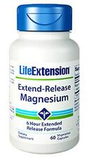 3X $9.15 Life Extension Extend-Release Magnesium citrate oxide 6 hour heart bone