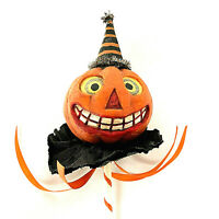 Bethany Lowe Pumpkin Jack O Latern Parade On A Stick Paper Hat