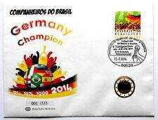 PhilaGlobe WOS 004 Numisbrief Fußball-Weltmeister Deutschland 13.07.2014