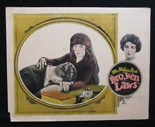 BROKEN LAWS 1924 Rare lobby card Mrs Wallace Reid Dorothy Davenport silent film