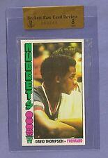 1976-77 Topps David Thompson #110 HOF Rookie BVG 8 TOUGH CARD