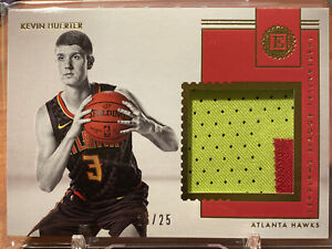 KEVIN HUERTER 2018-19 Panini Encased Rookie Jersey Swatch Hawks RC Patch /25 SSP